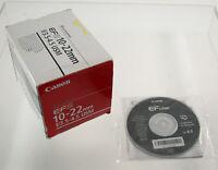CANON EFS EF-S 10-22 10-22mm F3,5-4,5 3,5-4,5/10-22 EOS USM box OVP DEFECTIVE !!