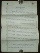 1929. LAST WILL AND TESTAMENT OF SAMUEL S DICKINSON, LOS ANGELES, CALIFORNIA