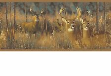Deer Hiding in the Tall Grass Sure Strip Wallpaper Border WG0346BD