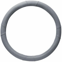 HD Faux Leather Steering Wheel Cover for Car Truck Van SUV Gray Universal Fit