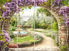 Garden Path Ceramic Tile Mural 24x18 Custom Backsplash Artistic Decor Gorgeous!