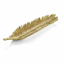 New Leaves Sago Palm by Michael Aram Gold  Goldtone Bread Plate - New