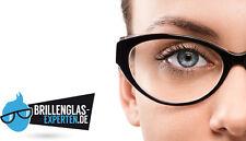 2 Brillengläser DÜNN Index 1.60, alles drin / inkl. EINSCHLIFF / Einstärke