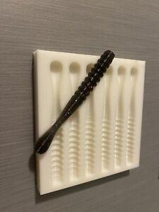 Soft Plastic Bait Mold 3.75 inch drop shot Fat Worm Open Pour USA Made