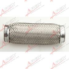 """4"""" Exhaust Flex Pipe 4"""" x 8"""" OL Heavy Duty Stainless Steel Interlock"""