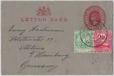51822 - CAPE of GOOD HOPE - POSTAL HISTORY STATIONERY Letter CARD + STAMPS 1900