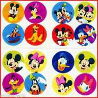 Mickey Mouse Mini Dot Stickers x 8 sheets - 32 dots - Minnie,Goofy,Donald Reward