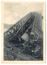 Russian Civil War 2nd Entente Campaign Bridge Destroyed by Denikin PC ca 1926