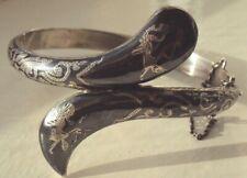 serpent bracelet bangle,hallmark 925,Siam,Thailand Vintage Sterling Silver snake