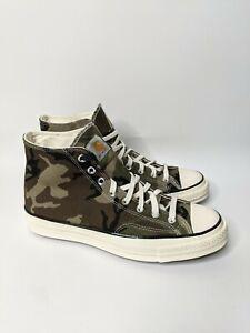 Converse x Carhartt WIP Chuck 70 Hi Camouflage Canvas 169221C Size 10