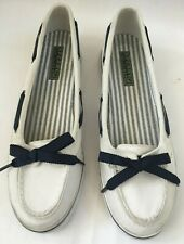 Sperry Top Sider Womens Boat Shoes White Canvas 9778242 Size 7.5M