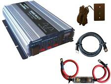 VertaMax 3000 Watt Pure Sine Wave Power Inverter + Cables + Fuse + ON/OFF Remote