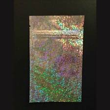 "(30) Silver Mylar Holographic Smell Proof 3"" x 4 1/2""  ZipLock Bags"