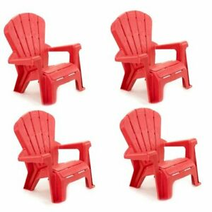 Little Tikes Garden Chair for Kids Play Furniture w/ Wide Armrests Pink (4 Pack)