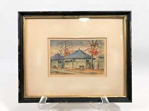 WWll PAUL LAMEYER *CAMP FORREST TENN SEGREGATED MILITARY BASE* WATERCOLOR