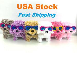 Electronic Plush Puppy, Sunglasses, Barking Walking Wagging, Moving Pet, Battery