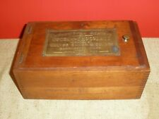 Antique Educational Exhibit Box Cocoa Chocolate Walter Baker w/Plaque & Tin #62