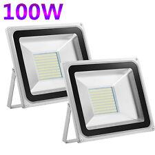 2X 100W LED Flood Light Cool White Spotlight Outdoor Garden Security Lamp 240V