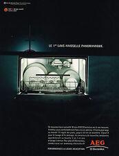 PUBLICITE ADVERTISING 045  2005  AEG  lave-vaisselle panoramique