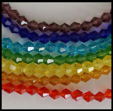 4mm BICONE CHAKRA #A colors 70 Beads A-GRADE Crystal Glass Craft Jewelry FACETED