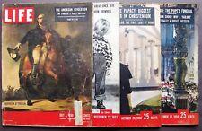 VINTAGE LIFE MAGAZINES (4) July 3, 1950~Dec 22, 1952~Oct 20 & Oct 27, 1958