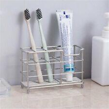 Stainless Steel Non-slip Toothbrush Holder Bathroom Organiser Toothpaste Stand