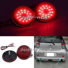 2pcs Red LED Rear Bumper Reflector Light For Scion XB iQ Toyota Sienna Corolla
