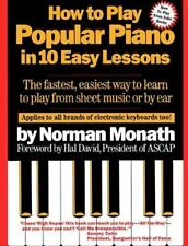 How to Play Popular Piano in 10 Easy Lessons by Norman Monath (1984, Paperback)