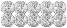Lot of 10 - 2016 $1 1oz Silver American Eagle BU