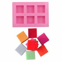 Nueva 6 Cavidad Cuadrado Pastel de Jabón DIY Molde de Silicona Molde  Cube para