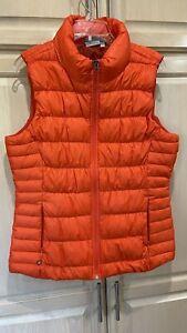 Athleta Down Vest Quilted Full Zip Women's XL