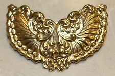French Barrette Hair Clip France Goldtone Intricately Decorated Statement Piece