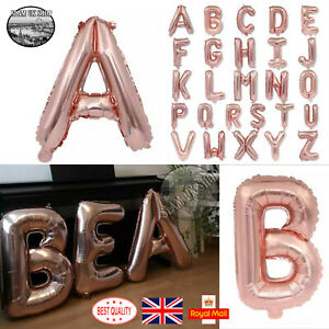 32'' Alphabet A-Z Letter Helium Foil Balloon Self Inflating Birthday Name Decor
