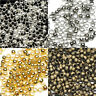 1500Pcs Dia. 2mm Copper Brass Jewelry Findings Round Smooth Ball Crimps Beads