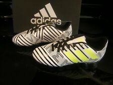 New Boys Black, White & Yellow Adidas Nemeziz 17.4 Soccer Cleats, 1.5