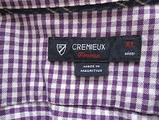 Men's Cremieux Classics Front Button Ginghan Pattern Long Sleeve Shirt Size XL