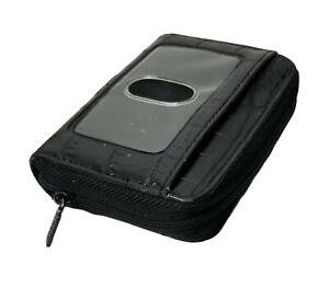 Buxton Id Cardholder Black Faux Croc Wallet NWOT