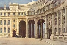 The Admiralty Arch. London. By Ernest Haslehust 1920 old vintage print picture