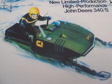 1975 Vintage JOHN DEERE 340/S Snowmobile Brochure Tractor