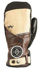 New 2016 Rome Mens Bowery Snowboard Mitts Large Tan