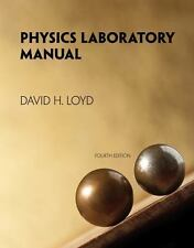 Physics Laboratory Manual, , Loyd, David, Very Good, 2013-01-01,