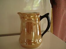 "Vintage Lusterware Yellow Gold 6 1/4"" Pitcher Germany"