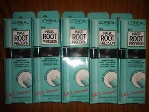 Lot of 5 L'Oreal Paris Magic Root Precision Black Temporary Gray Concealer New
