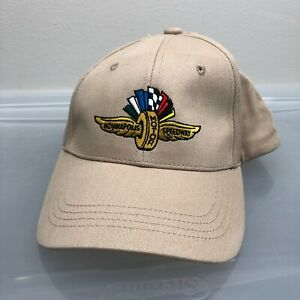 """Indy 500 """"Safety Patrol"""" Hat. Beige One Size Cap. Indianapolis Indy Car"""