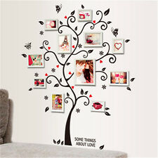Family Tree Wall Decal Sticker Large Vinyl Photo Picture Frame Removable Black D