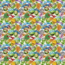 TNMT Icon Toss Teenage Mutant Ninja Turtle Emoji Cotton Fabric by the Yard