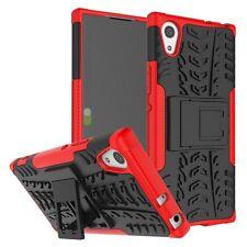 Hybrid Case 2teilig Outdoor Rot Tasche Hülle für Sony Xperia XA1 Etui Cover Neu