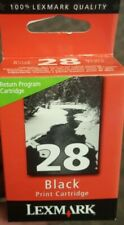 Lexmark 28 Black Return Program Printer Print Cartridge