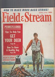 Field & Stream Magazine April 1968 Don Stivers Fishing Cover