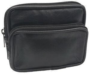 Mens Leather Mini Waist Belt Loop Travel Bag Pocket Pouch